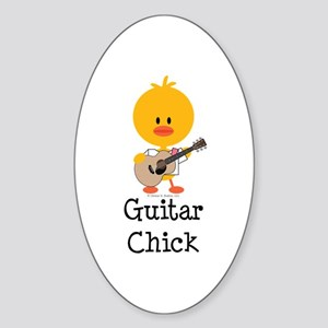 Guitar Chick Sticker (Oval)